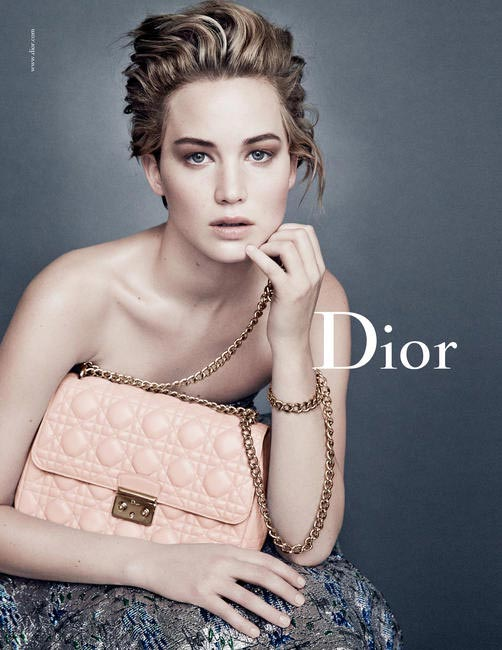 Miss Dior campaign featuring Jennifer Lawrence