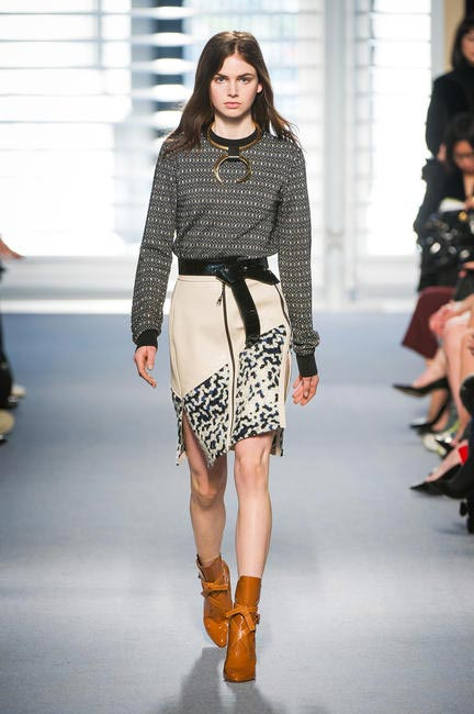 Nicolas Ghesquiere showcased his debut collection for Louis Vuitton at Paris Fashion Week RTW 2014