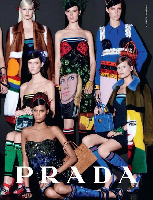 Prada's SS 2014 campaign shot by Steven Meisel
