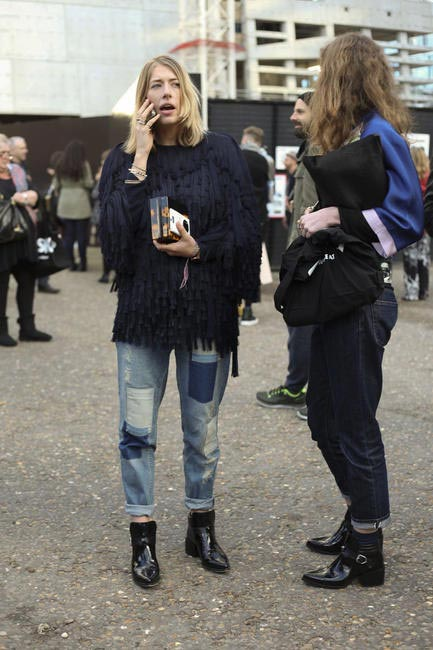 Street Style At London Fashion Week -- AW 2014