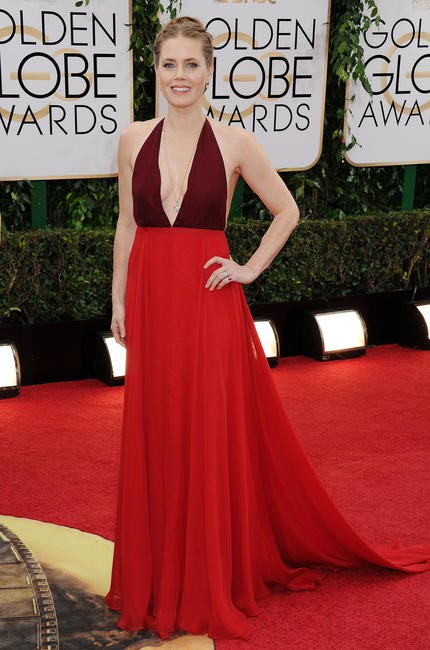 Amy Adams in two-toned Valentino at the 2014 Golden Globe Awards
