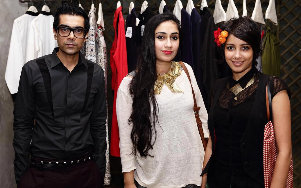 Designers at MaalGaadi - Arjun Saluja, Malleka and Nida Mahamood