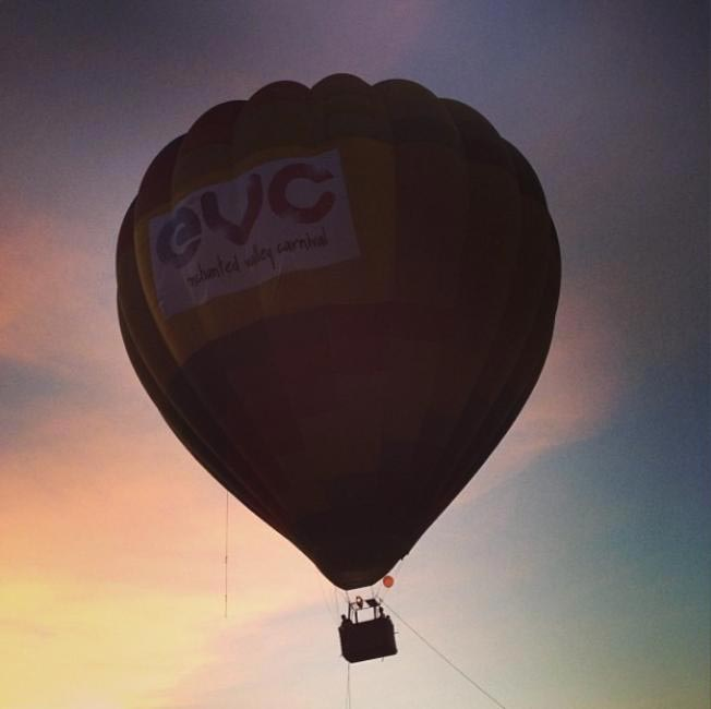 Hot air balloon at EVC