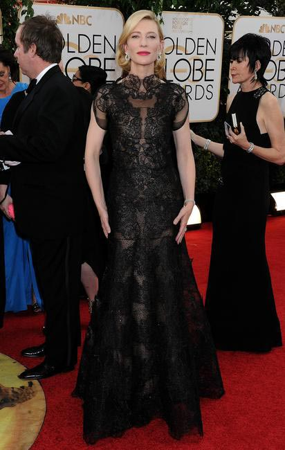 Kate Blanchet in Armani Prive at the 2014 Golden Globe Awards