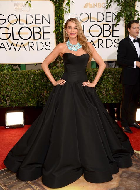 Sofia Vergara chose Zac Posen for the 2014 Golden Globe Awards