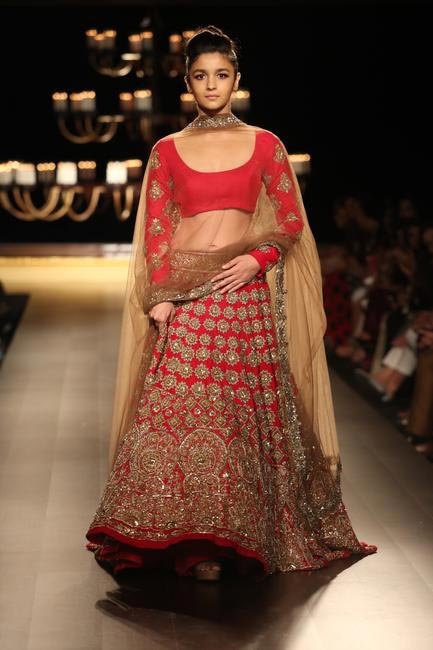 Alia Bhatt walks the ramp for Manish Malhotra