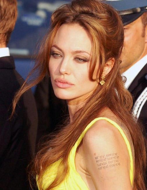 Angelina loves herself some ancient grains