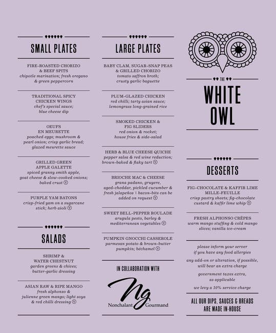 Culinary Collaborations Menu
