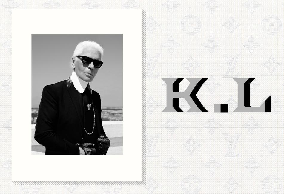 Karl Lagerfeld at Louis Vuitton
