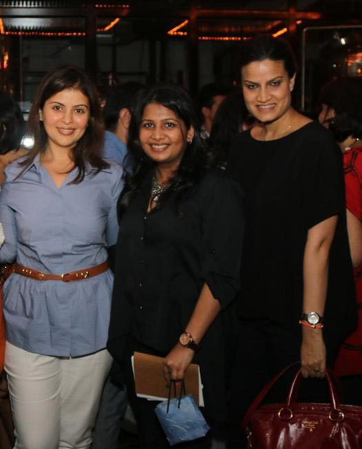 (L-R) Maneka Thadani - Gucci, Radhika Dhawan - Fashionably Connected, Anjali Gaekwar - Christian Louboutin