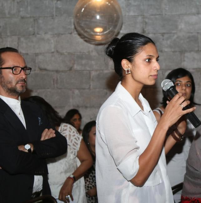 (L-R) Vito Dell'erba - Design Head Raymond and Ashita Misquitta of Hermes India