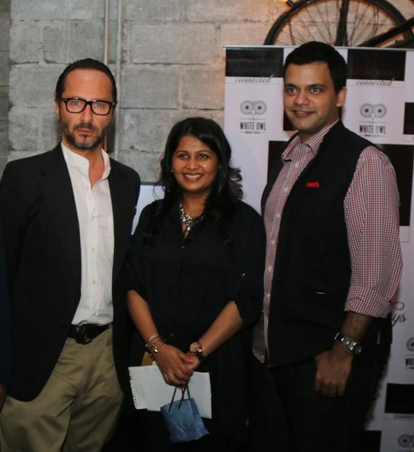 (L-R) Vito Dell'erba - Design Head Raymond, Radhika Dhawan - Fashionably Connected, Nachiket Barve