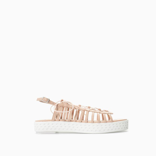 Leather Platform Sandal, Zara