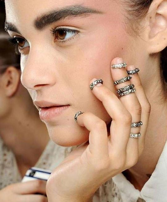 Midi rings recently spotted on the Chanel Fall 2014 couture runway