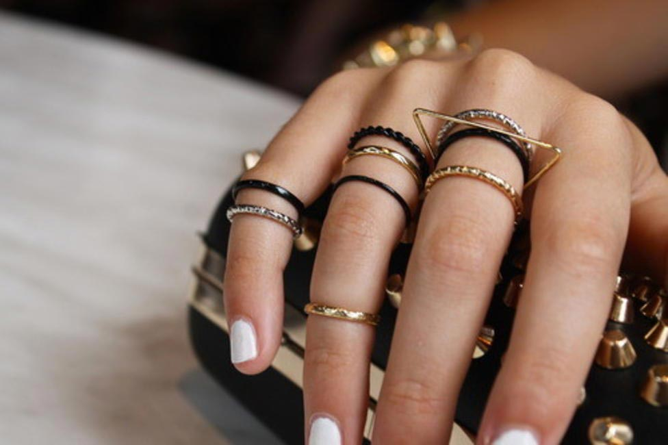 Stack on some small dainty bands to add simple elegance to your accessories
