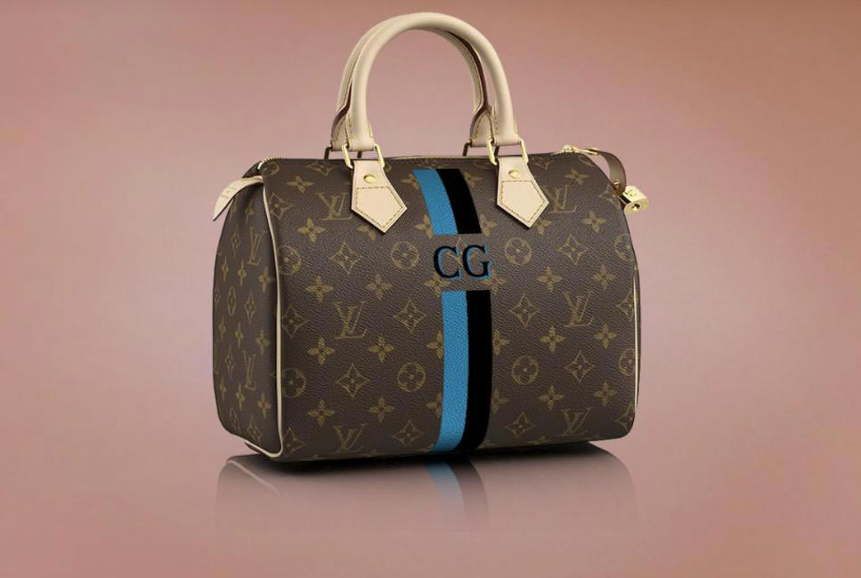 You too can have fun creating your own monogram. I created my own Mon Monogram bag with my initials CG (for Charu Gaur)
