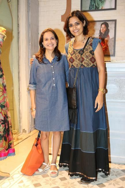 Anupama Chopra with Priyadarshini Rao at Priyadarshini Rao's Spring Summer Collection Launch at her store