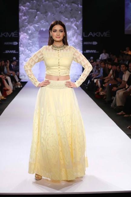 Dia Mirza for Anita Dongre at Lakme Fashion Week Summer Resort 2014