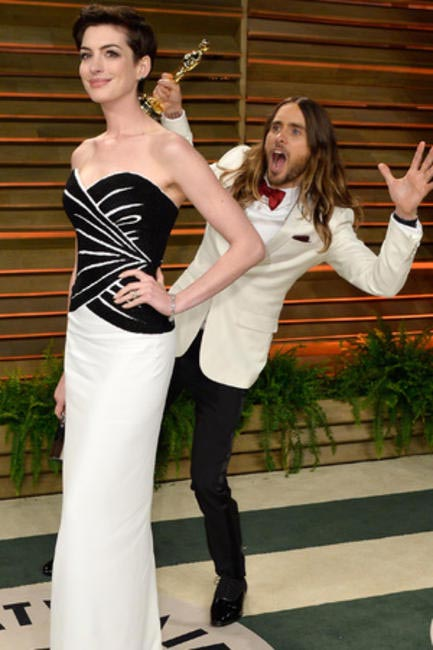 Hours after an incredibly moving speech at the Oscars, Jared Leto decides to have some fun at the after party