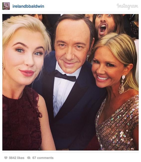 Jared Leto gives veteran photobomber Kevin Spacey a taste of his own medicine