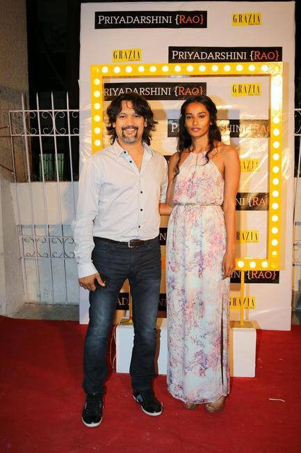 Jatin Kampani with Nidhi Sunil at Priyadarshini Rao's Spring Summer Collection Launch at her store