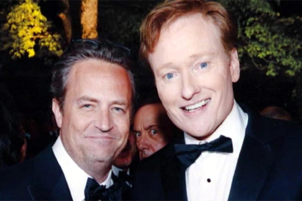 Kevin Spacey also photobombs Matthew Perry and Conan O'Brien's photo
