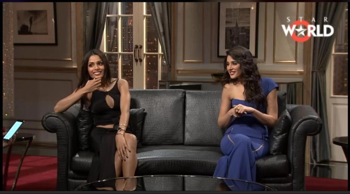 Koffee With Karan - Nargis Fakhri Freida Pinto. Grazia.co.in