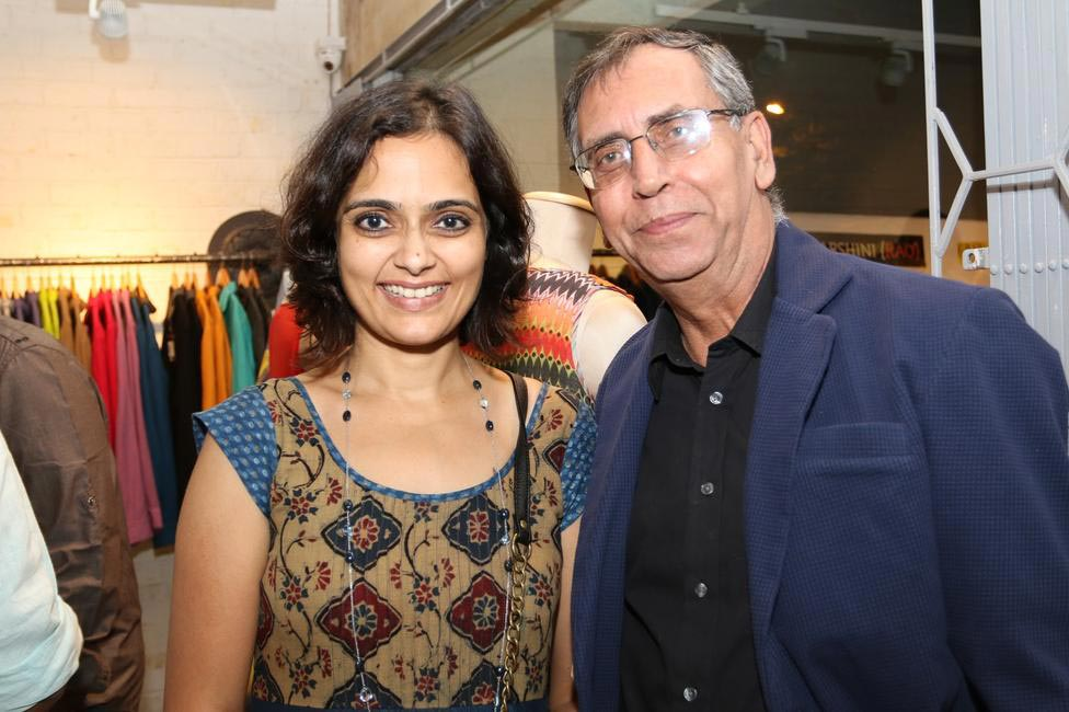 Priyadarshini Rao with Anil Chopra at Priyadarshini Rao's Spring Summer Collection Launch at her store