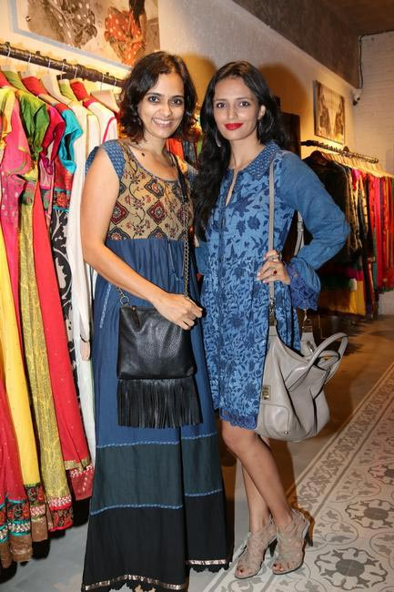 Priyadarshini Rao with Roshni Chopra at Priyadarshini Rao's Spring Summer Collection Launch at her store