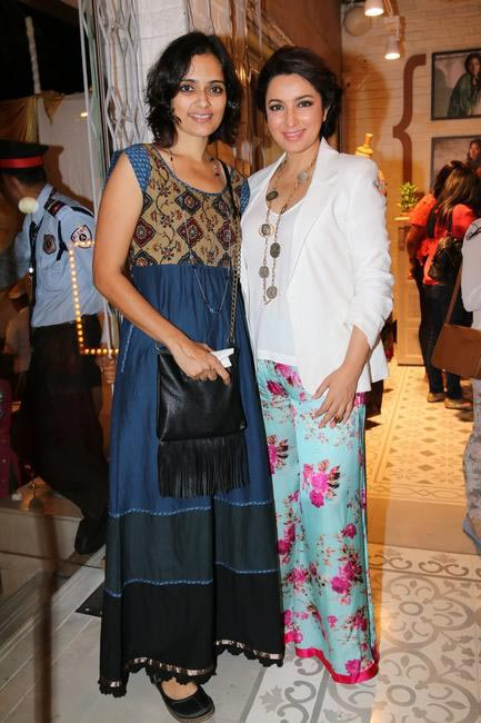 Priyadarshini Rao with Tisca Chopra at Priyadarshini Rao's Spring Summer Collection Launch at her store