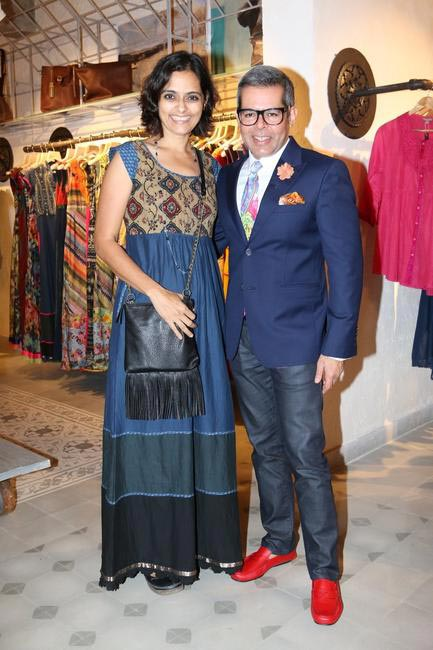 Priyadarshini Rao with Vikram Raizada at Priyadarshini Rao's Spring Summer Collection Launch at her store