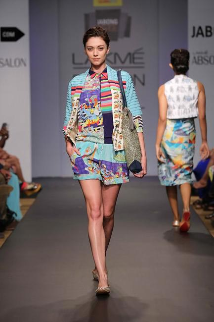 QuirkBox at Jabong Stage. The label's new collection stayed true to its name but evolved in terms of prints.  LFW SR 2014