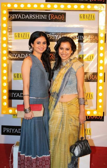 Rasika with Tilotama at Priyadarshini Rao's Spring Summer Collection Launch at her store