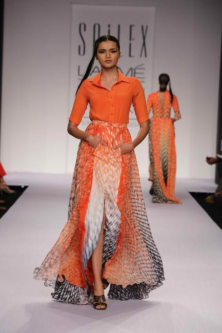 Shibori and lovely play of colours by Sailex at LFW SR 2014