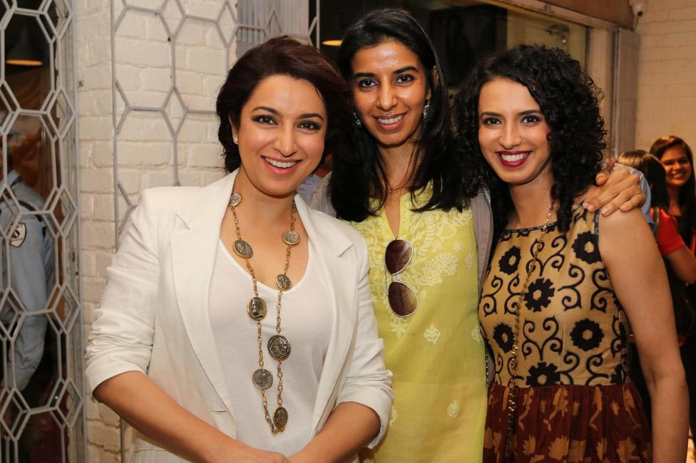 Tisca Chopra, Ekta Rajani with Arpana Badlani at Priyadarshini Rao's Spring Summer Collection Launch at her store