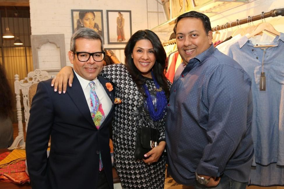 Vikram Raizaida, Reshma Merchant and Umesh Jivnani at Priyadarshini Rao's Spring Summer Collection Launch at her store