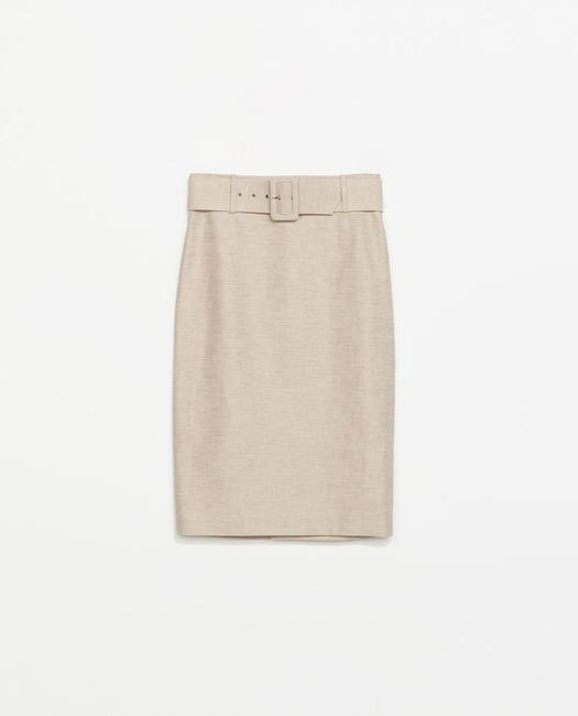 ZARA Cotton-Linen skirt - zara.com:in