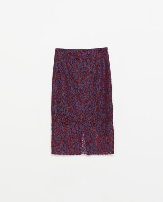 ZARA Lace Pencil Skirt - zara.com:in