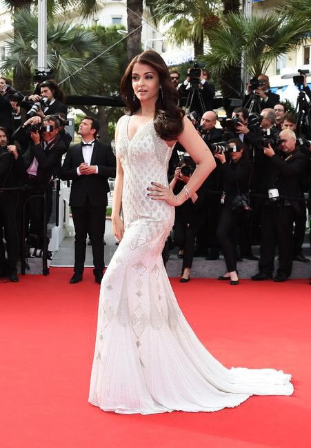 Aishwarya Rai in another stunning Roberto Cavalli gown. Photo - L'Oreal Paris