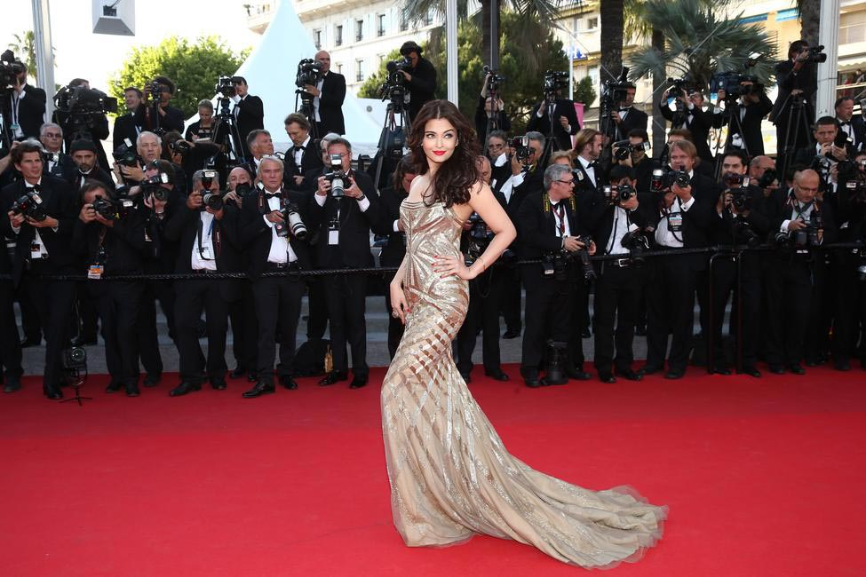 Aishwarya Rai in Roberto Cavalli. Photo - L'Oreal Paris