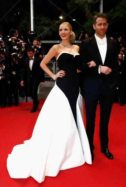 Blake Lively and Ryan Reynolds in Gucci. Image courtesy- Gucci:Getty Images