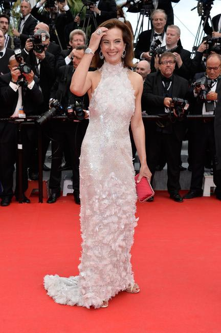 Carole Bouquet in Chanel at the Opening Ceremony Cannes May 14th 2014