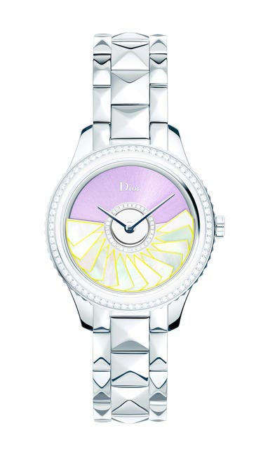DIOR VIII GRAND BAL PLISSE SOLEIL - STEEL AND DIAMONDS 36MM