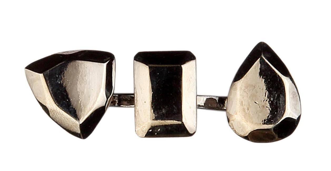 Eina Ahluwalia Loking Back Ring - Double - Dark