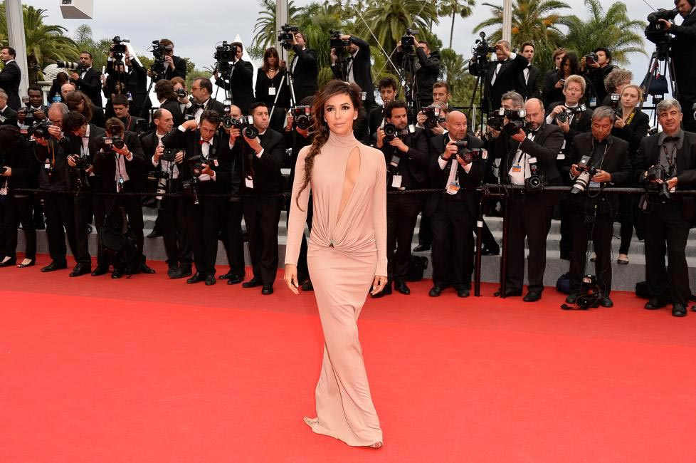 Eva Longoria in Vionnet at Cannes 2014. Photo - L'Oreal Paris