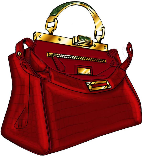 FENDI Peekaboo by Jerry Hall