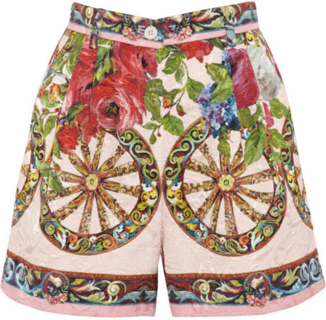 Floral Jacquard High-Waisted Shorts, Dolce & Gabbana, INR 54,800