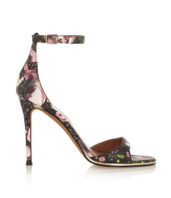 Givenchy Floral-print leather sandals via Net-a-porter