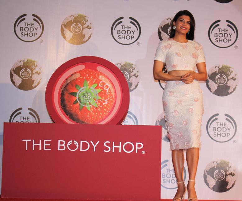 Jacqueline Fernandez at THE BODY SHOP annoucement ceremony