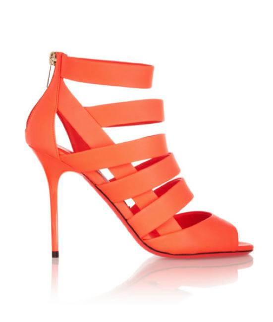 Jimmy Choo Damsen neon matte-leather sandals via Net-a-porter